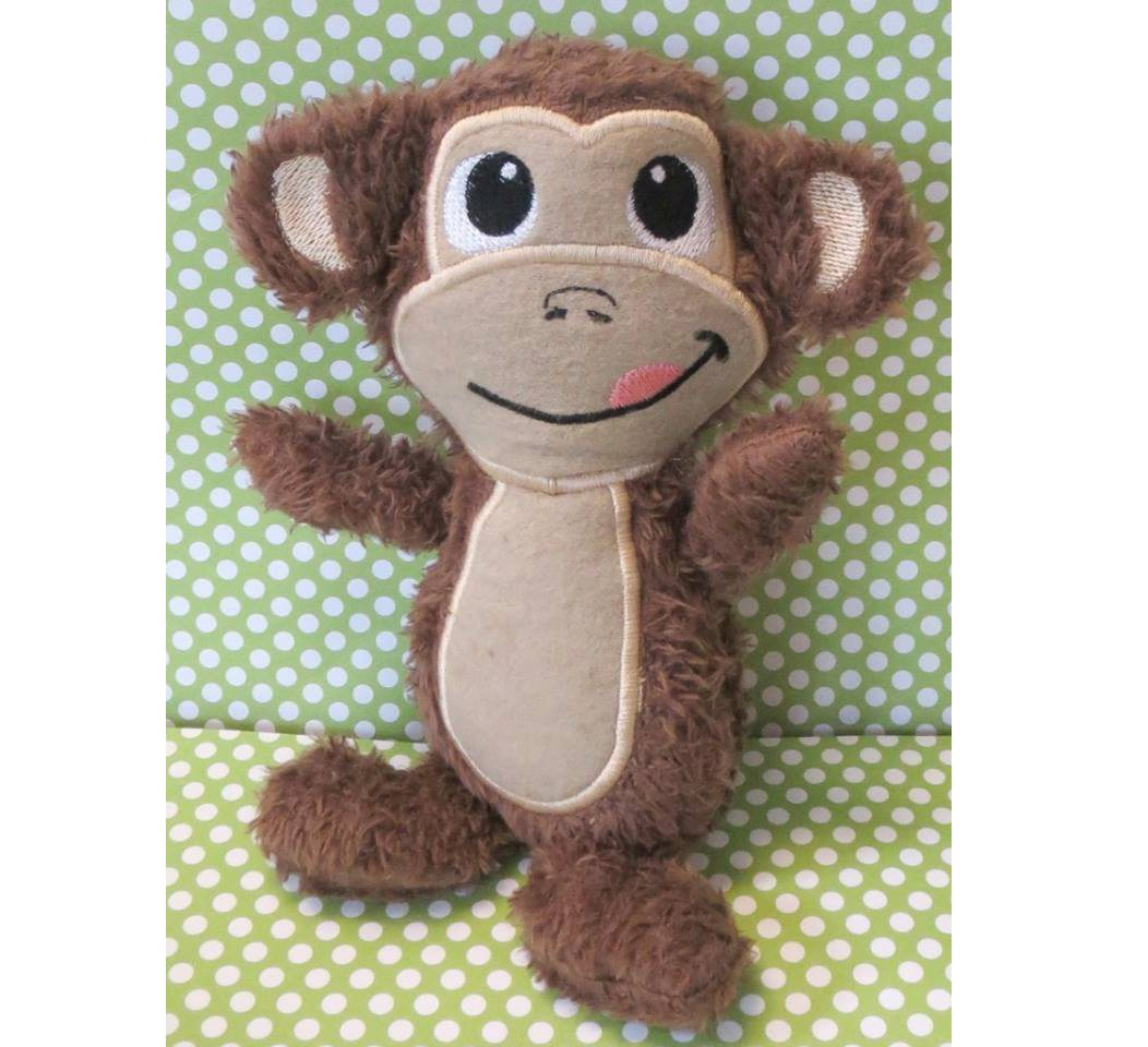 Monkey Stuffie Bows And Clothes