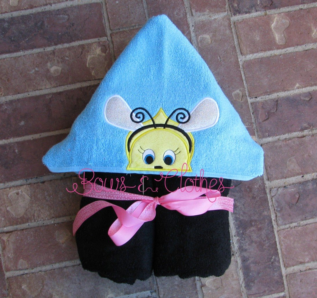 Bee Peeker Hooded Towel Bows And Clothes