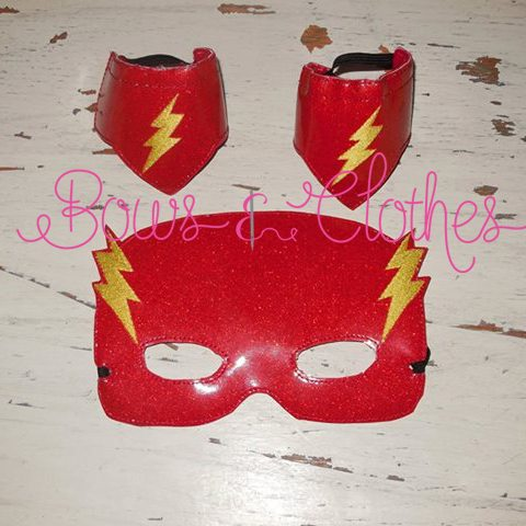 Flash Mask And Wristbands Bows And Clothes