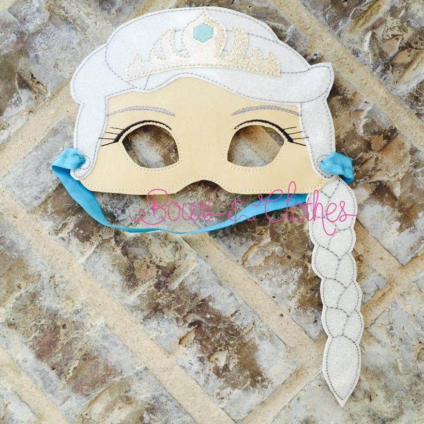 Ice Princess Mask Bows And Clothes