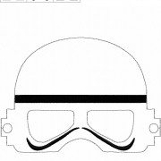 White Space Guy Mask