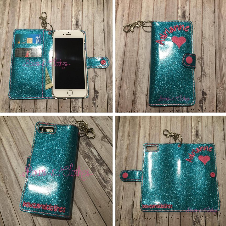 Ith Cell Phone Wallet For Iphone 6 Bows And Clothes