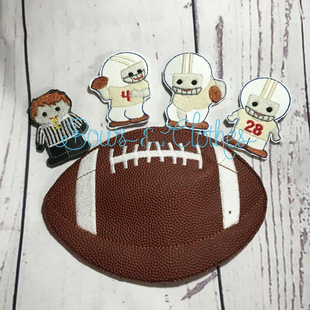 Football Finger Puppets Bows And Clothes