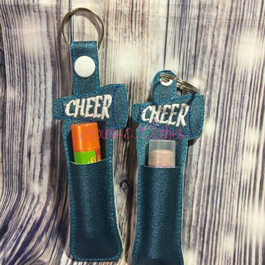 Cheer Lip Balm Holders Bows And Clothes