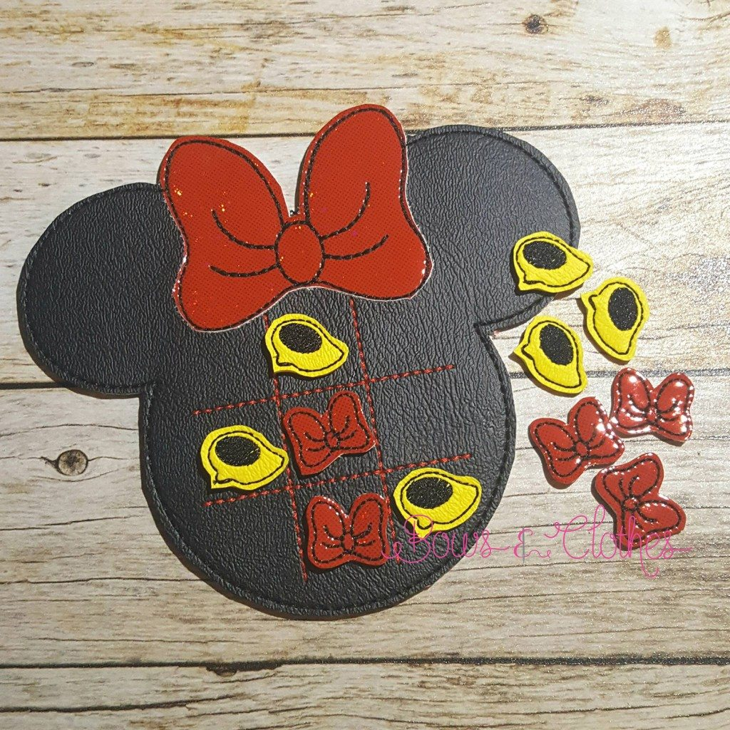 Girl Mouse Tic Tac Toe And Pieces Bows And Clothes
