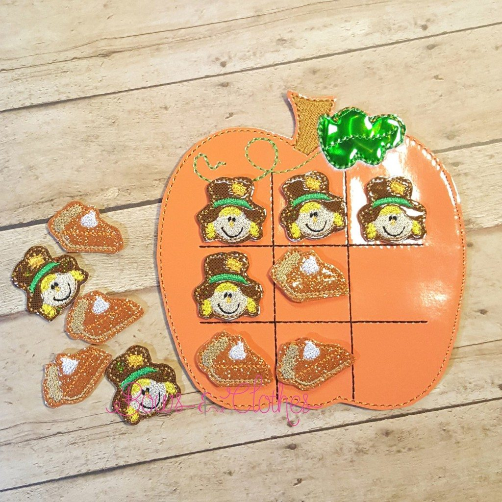 Fall Pumpkin Tic Tac Toe And Pieces Bows And Clothes