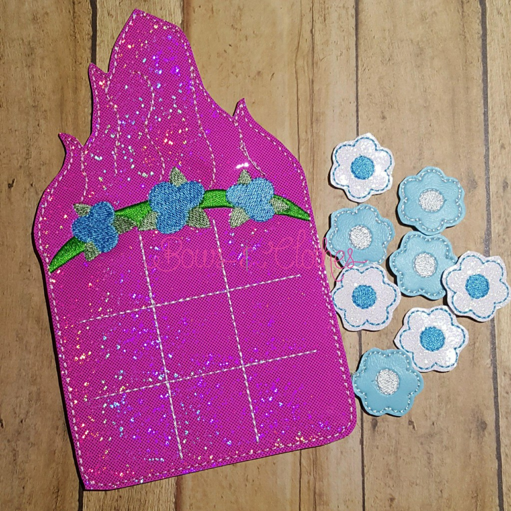 Pink Troll Tic Tac Toe And Pieces Bows And Clothes