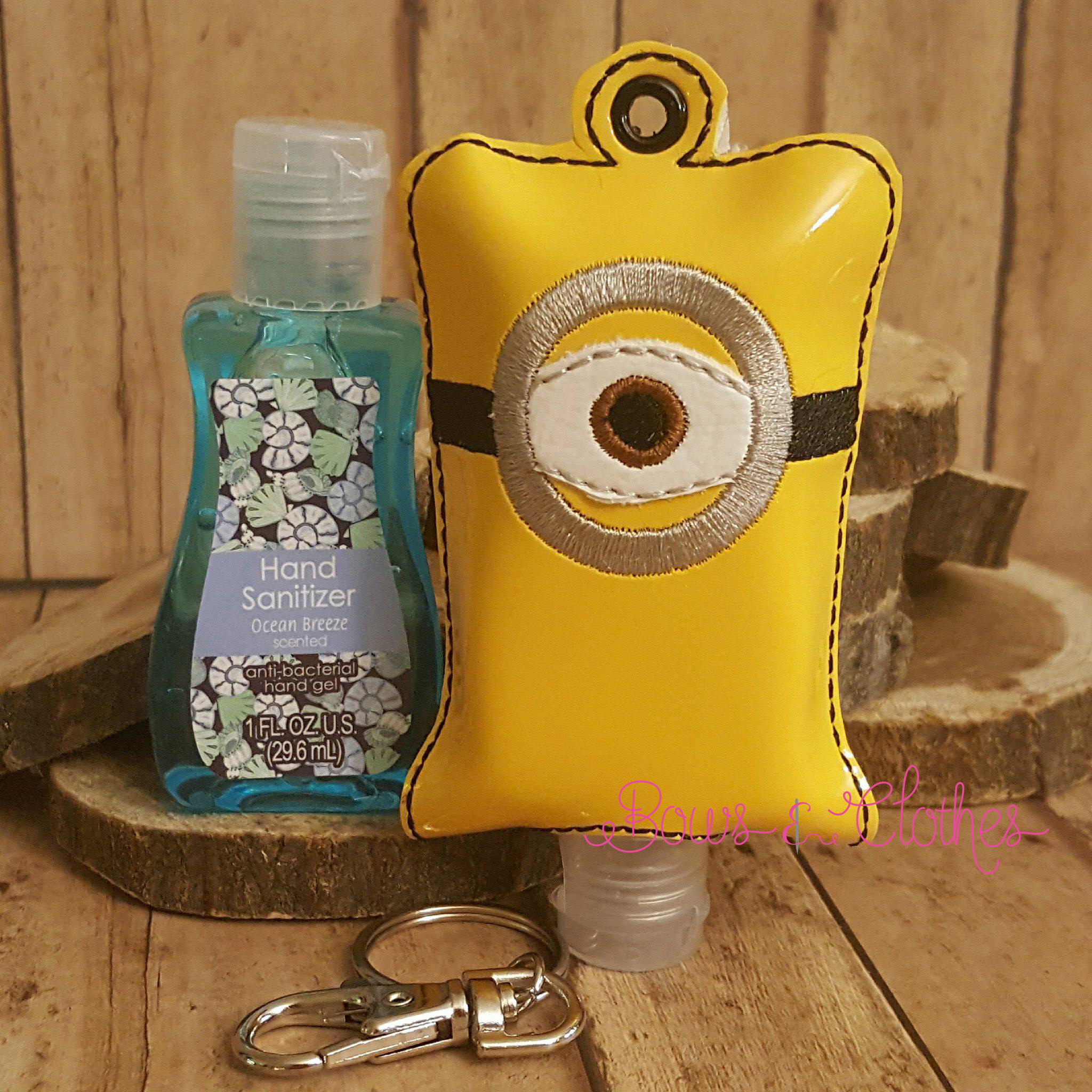 One Eye Open Tab Hand Sanitizer Bows And Clothes