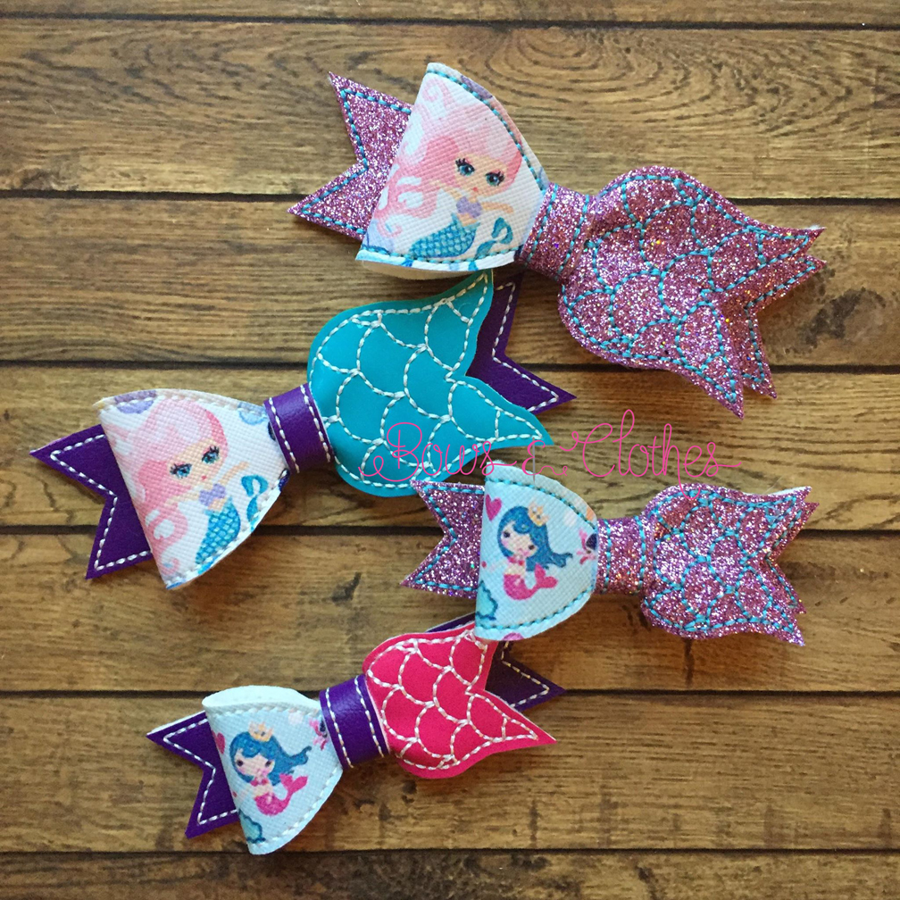 Mermaid Tail Bow Bows And Clothes
