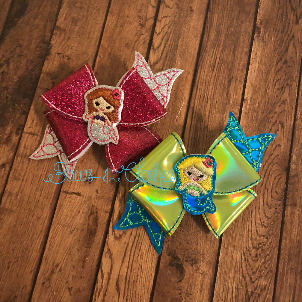 Mermaid Loopy Bow Bows And Clothes